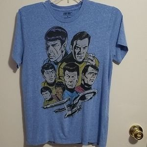 Star Trek M Short Sleeve Light Blue Shirt
